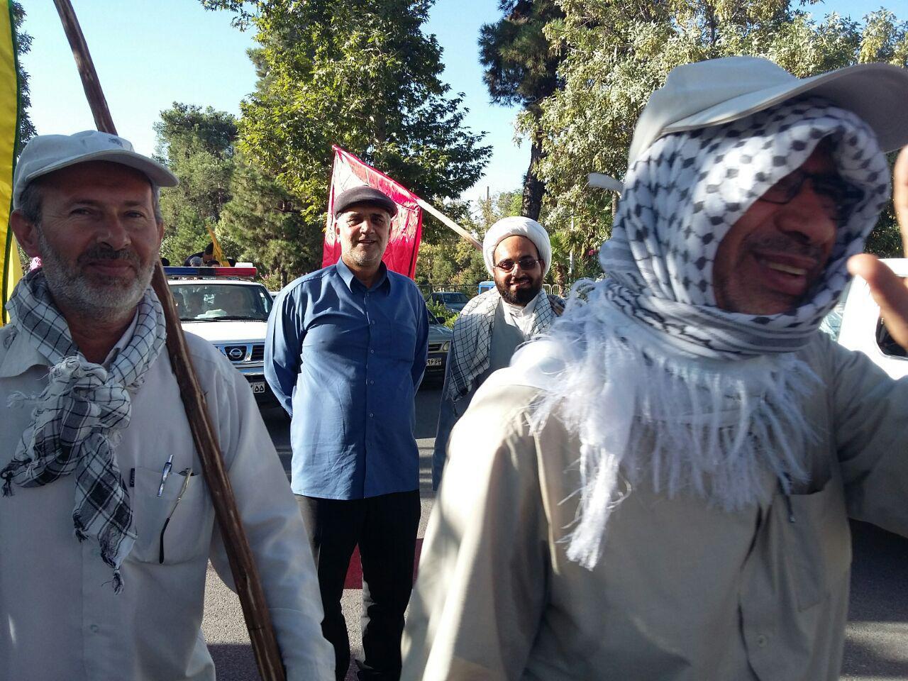 کاروان پیاده روی مردم جهرم به شاهچراغ